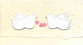 Свадебная открытка с голубками