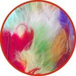 Набор разноцветных перышек для декора