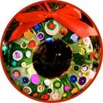 Новогодний венок из пенопластового бублика