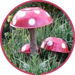 Садовые грибы из тазиков