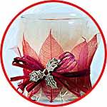 Новогодний декор с сетчатыми листиками
