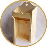 Шкафчик-ключница с полочкой - заготовка для декора