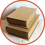 Шкатулки-книги из картона - заготовка под декупаж