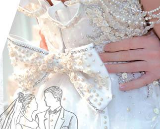 Свадебный декор - стразы и перламутровые половинки