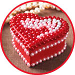 Коробочка сердечко декор