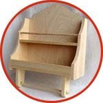 Деревянная заготовка для декора - полочка для специй и бумажных полотенец