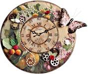Часы шебби-шик с бабочкой мастер-класс