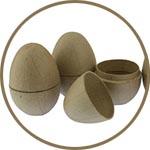 Разъемные яйца-коробочки Декопатч из папье-маше
