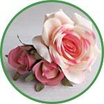 Роза искусственная для декора и флористики