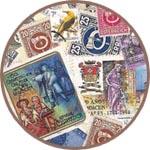 Рисовая салфетка для декупажа почтовые марки