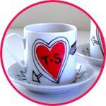 Кружка-валентинка с сердечком