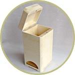 Чайная коробка-башенка из дерева