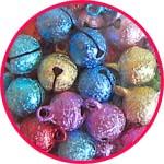 Бубенчики-подвески звенящие цветные