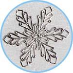 Снежинка - металлическая накладка