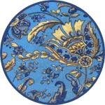 Синяя восточная ткань - бумага Декопач