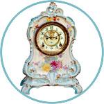 Часы каминные старинные фарфоровые