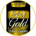 Аэрозольная краска CHAMPION, золото 24 карата