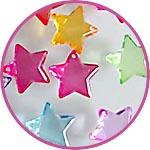 Подвески - прозрачные цветные звездочки
