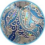 Контурный декор елочных шаров
