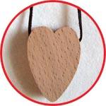 Сердечко-подвеска буковое