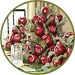 Елка-топиарий из яблок и еловых веточек