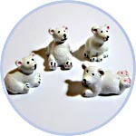 Белые мишки миниатюрные