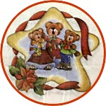 Декупажная бумага Рождественские мишки Тедди