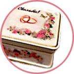 Купюрница, шкатулка из папье-маше, свадебный декор