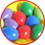 Яйца из пластика цветные, набор 10 шт.
