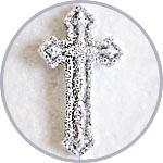 Крестик блестящий для декора