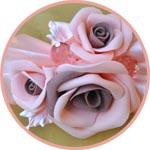 Заколка с цветами из фоамирана