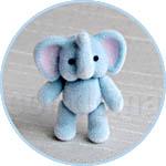 Слоненок плюшевый микро