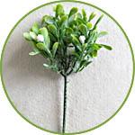 Веточка с листвой и белыми цветками, мини-дерево