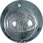 Шар из прозрачного пластика с блестками, 12 см