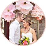 Цветы из папиросной бумаги - свадебный декор