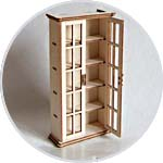 """Кукольная мебель """"Прованс"""", книжный шкаф"""