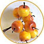 Яблочки мелкие декоративные для топиария и флористики