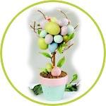 пасхальное дерево - топиарий из пенопластовых яиц