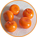 Мандарины, фрукты миниатюрные, 2 см, для декора