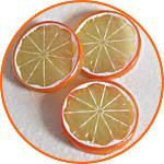 Дольки, кружочки апельсина декоративные купить