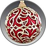 Елочный шар - узор золотой трансферной фольгой