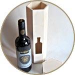 Коробка под вино шестигранная с окошком в форме бутылки