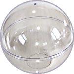 """Шар пластиковый прозрачный 9,5 см, с """"донышком"""""""