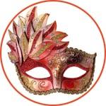 Венецианская маска на верхнюю часть лица