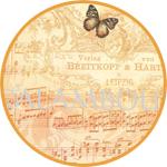 Бумага для декупажа рисовая Calambour DGR 186, Бабочка и ноты