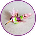 Птичка для декора колибри