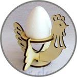 Подставка для яиц курочка