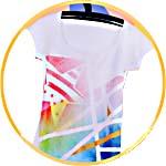 Декор футболки красками Марабу Фэшен Спрей
