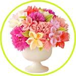 Цветы из бумаги плиссе