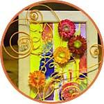 Декор с проволокой и бумажными цветами